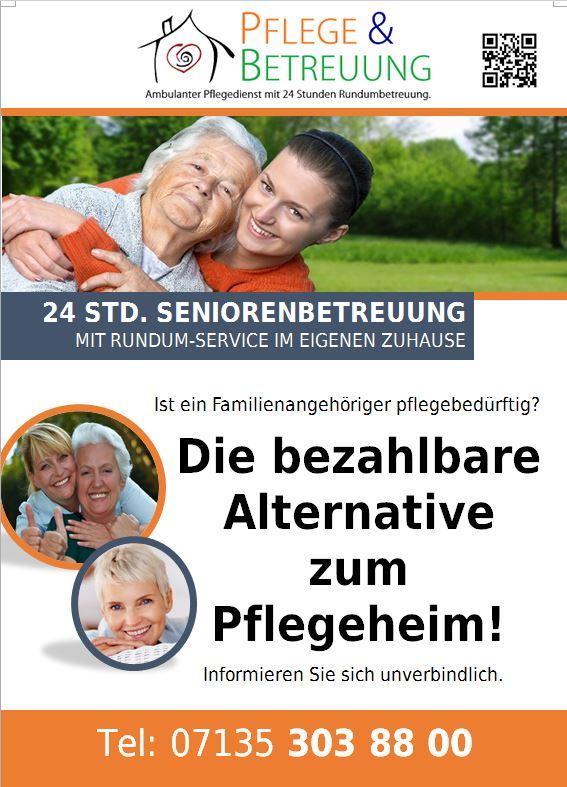 Flyer Pflege und Betreuung